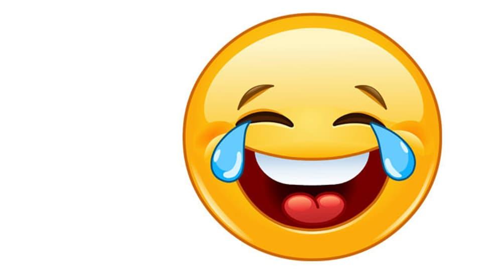 Der Smiley lächelt nicht nur, sondern lacht Tränen: das meistverwendete Emoji dieses Jahr.