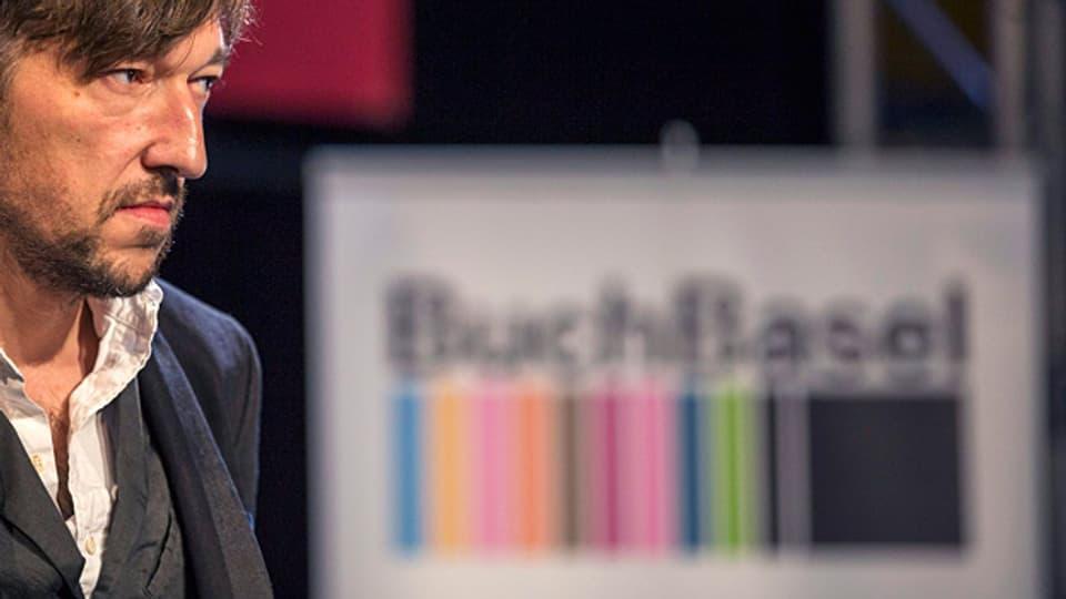 Der diesjährige Buchpreis-Gewinner Lukas Bärfuss an der BuchBasel.