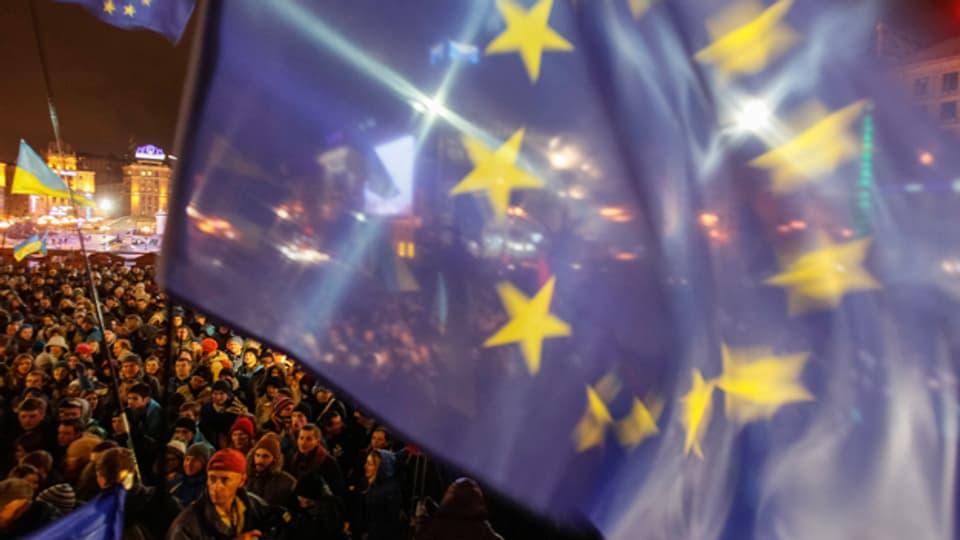 Ukrainische Kirchen sagen klar: Ja zu Europa.