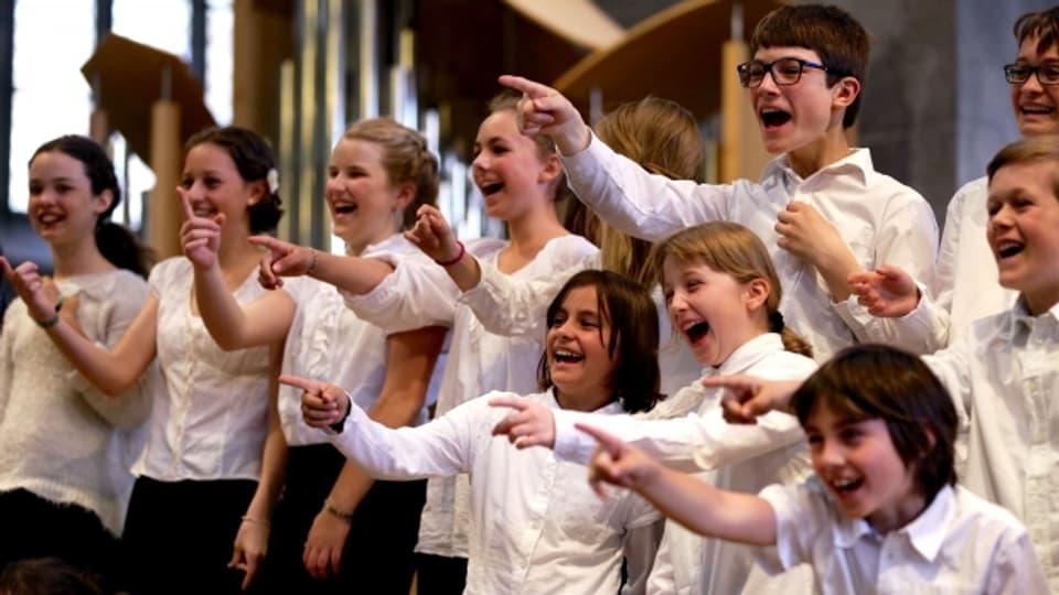 Auch das ist Kirchenmusik: Der Kinderchor des Berner Münster am Intern. Kongress für Kirchenmusik.