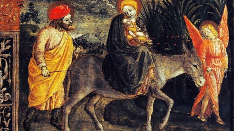 Der Esel als Bildmotiv: im Gemälde von Vincenzo Foppa (1483).