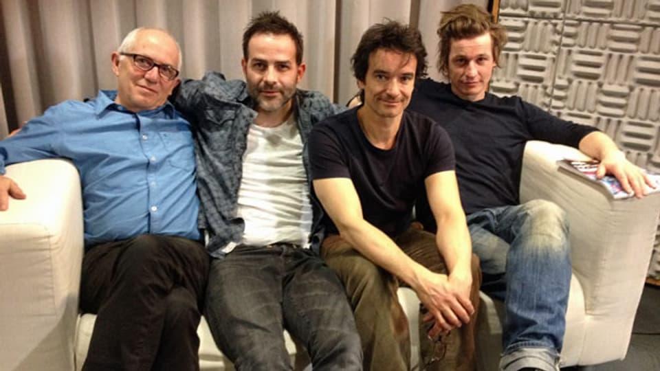 Die Hörspielcrew: Geri Dillier (Regie), Beat Marti (Franz), Kurt Grünenfelder (Fred), Arno Camenisch (Autor)