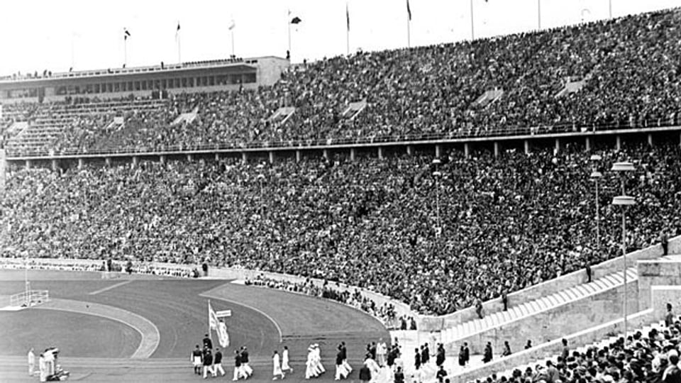 Eröffnung der XI. Olympischen Spiele in Berlin, 1936.