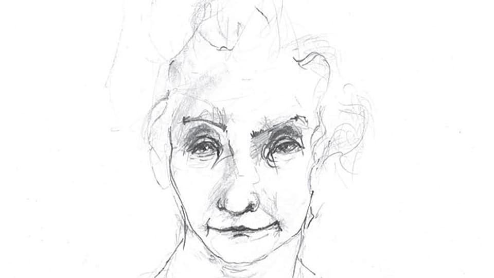Theres Ulmer, Zeichnung der Künstlerin Dan Steffan