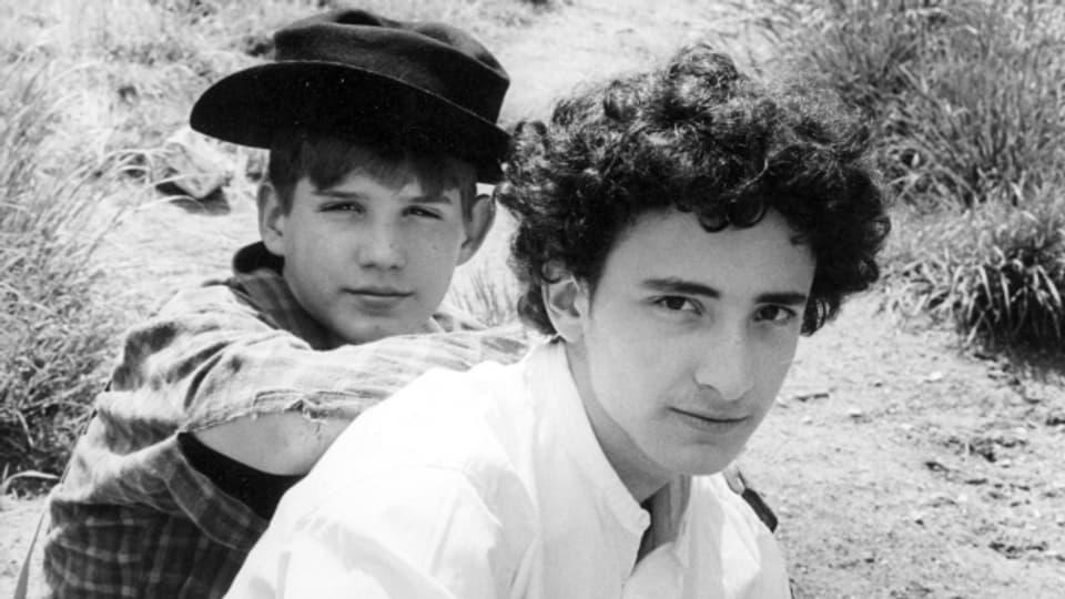 Die beiden Sprecher: Petar Radovanovic (l.) als Huckerberry Finn und Ronny Spiegel als Tom Sawyer (r.)