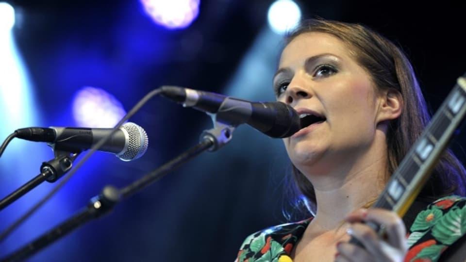 Priska Zemp, Leadsängerin der Schweizer Band «Heidi Happy» beim Paleo Music Festiva