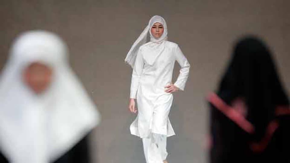 Models am «Islamic Fashion Festival» in Kuala Lumpur (2007).