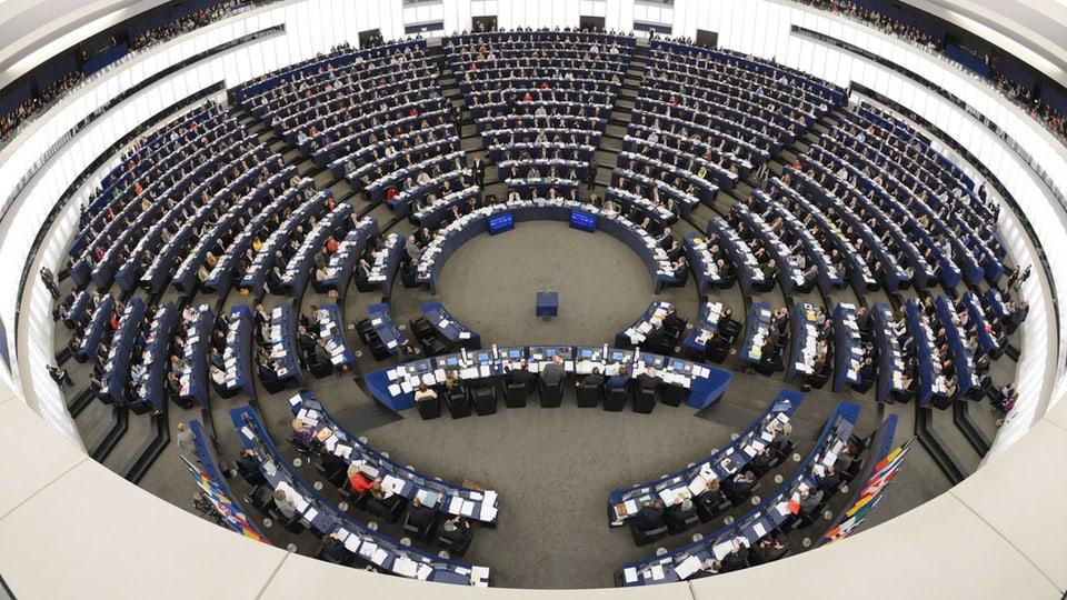Sitzungssaal des EU-Parlaments in Strassburg.