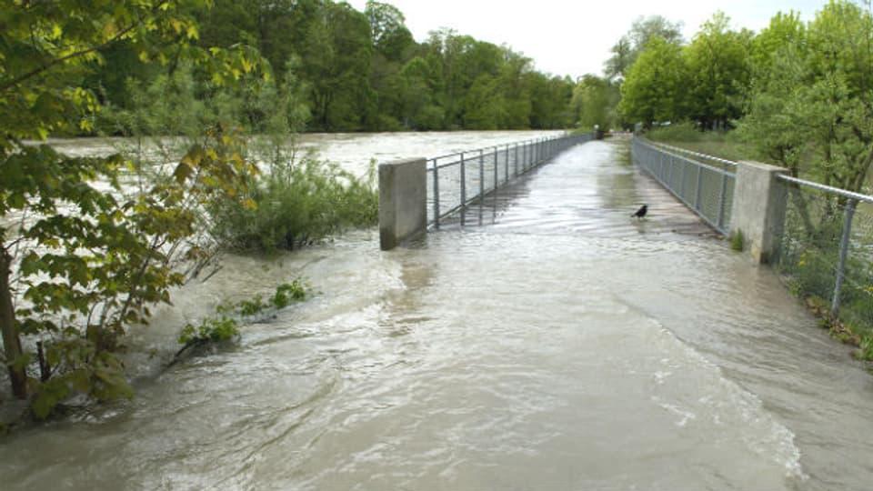 Die Aare ist über die Ufer getreten: Was kann man gegen Hochwasser tun?
