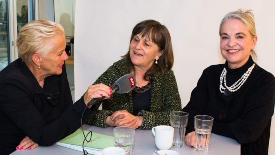 Cornelia Kazis, Gardi Hutter und Benita Cantieni.
