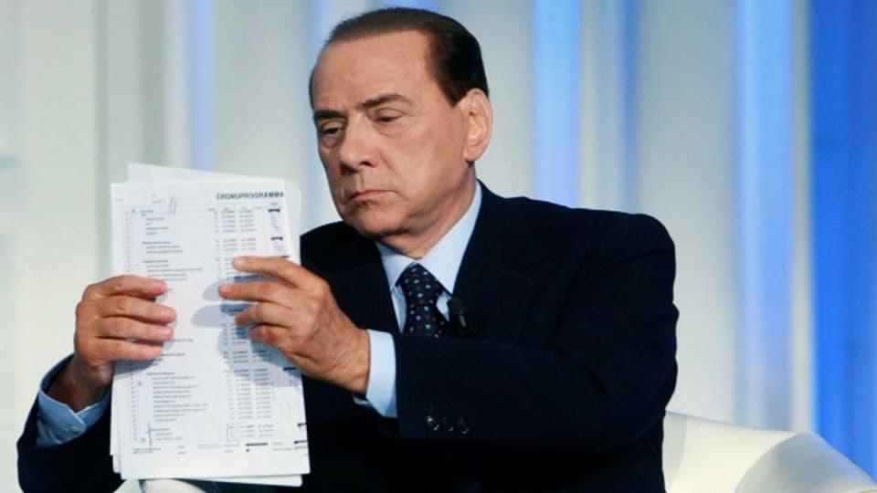 Auch häufig in den Medien präsent: Silvio Berlusconi.