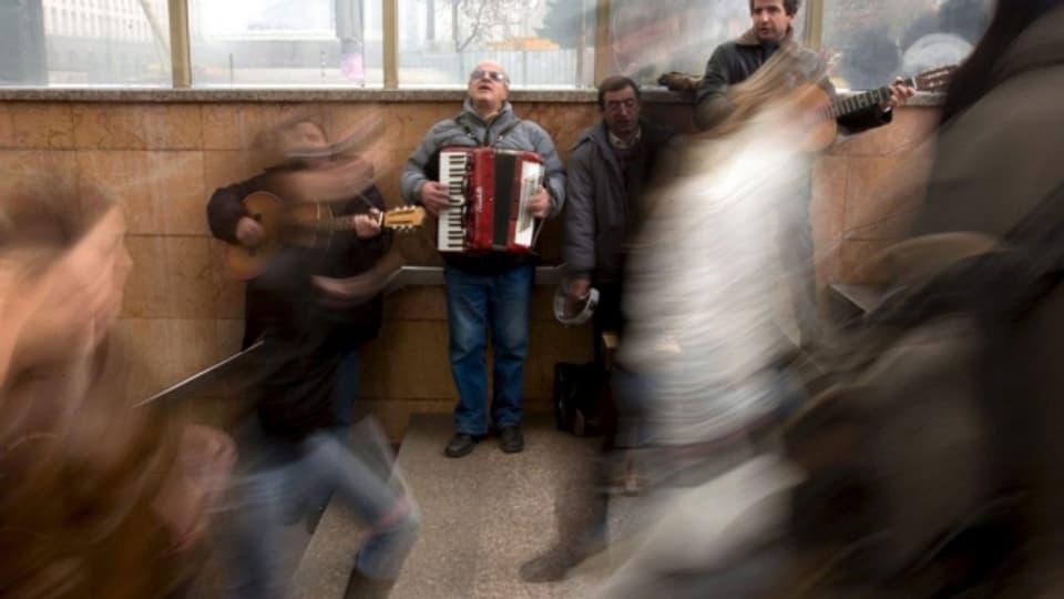 Oft zu Unrecht als lästiger Lärm abgetan: Strassenmusiker.
