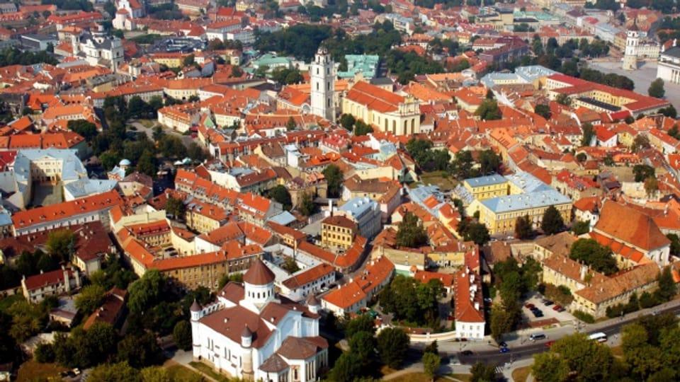 Blick auf die Altstadt Vilnius, die Hauptstadt Litauens.