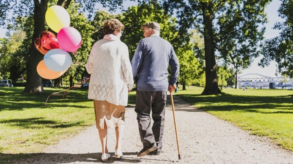 Traute Zweisamkeit im Alter – nicht immer läuft es so lange harmonisch.