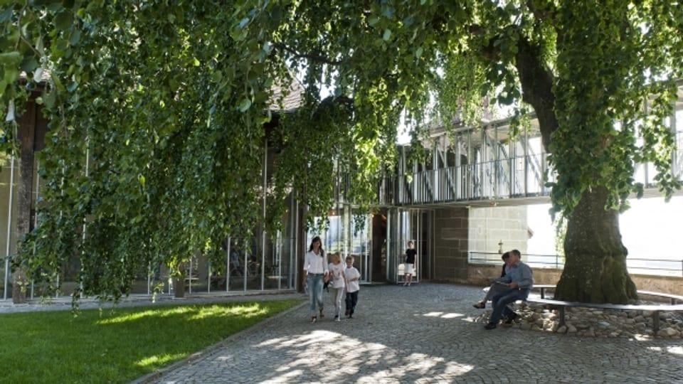 Der Eingang des Vitromusée Romont
