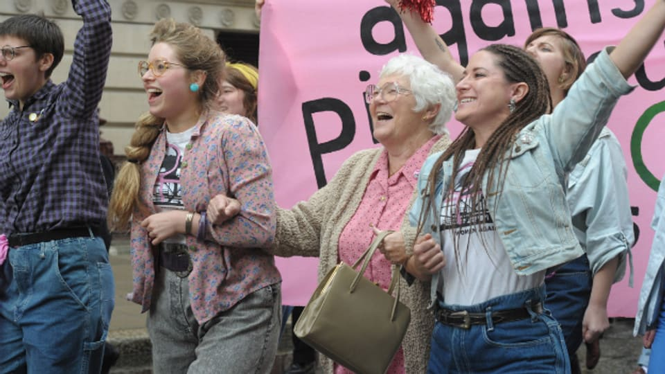 Ungewohnter Protest für Bergarbeiter: Szene aus «Pride».