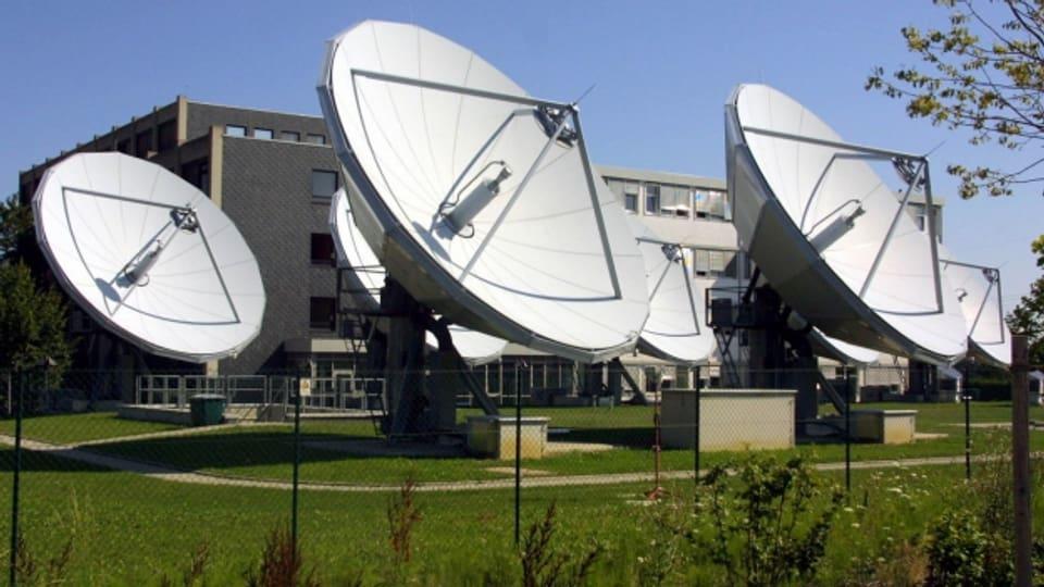 Grosse Satelittenschüsseln des einstigen Medienkonzerns Kirch.