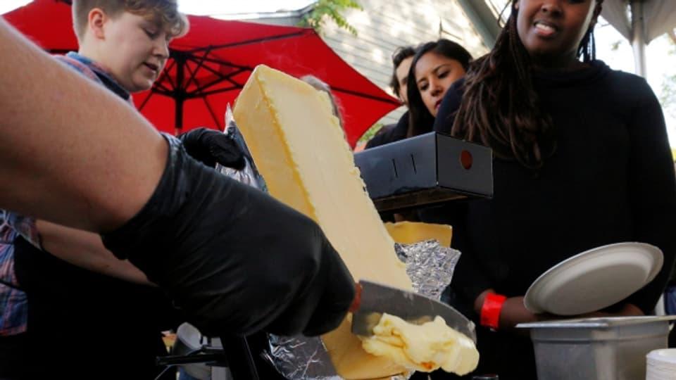 Essen der Zukunft? Dazu gehört an der South by Southwest Messe in Austin auch das Schweizer Raclette dazu.