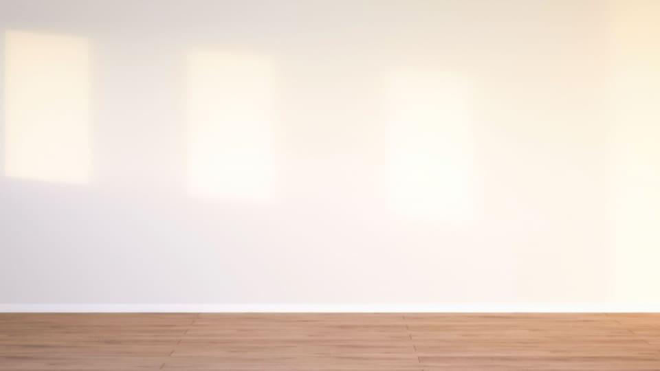 Ein leerer Raum – soll beruhigend und zugleich inspirierend wirken.