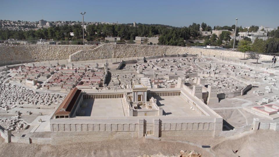 Herodes war ein Architekturfanatiker. Ein Tempel in Jerusalem.