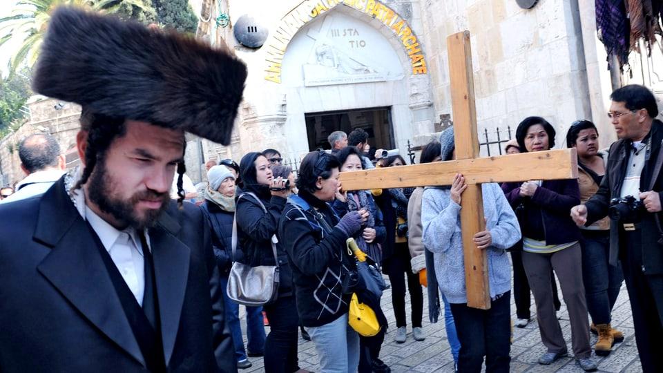 In der Altstadt von Jerusalem prallen die unterschiedlichsten Religionen aufeinander.