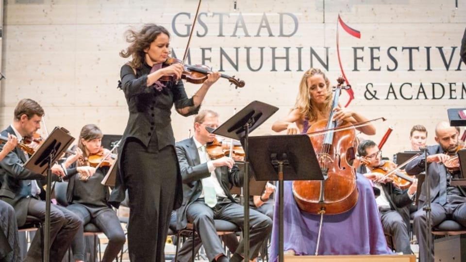 Musikalisches Star-Duo in Gstaad: die moldawisch-österreichische Geigerin Patricia Kopatchinskaja und die argentinische Cellistin Sol Gabetta.