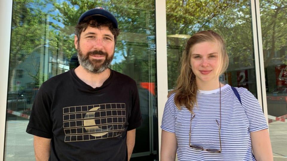 «Dass die Leute trotz allem Tickets kauften, war ein schönes Zeichen.» Marcel Bieri (l.) und Jennifer Jans vom B-Sides Festival Kriens.