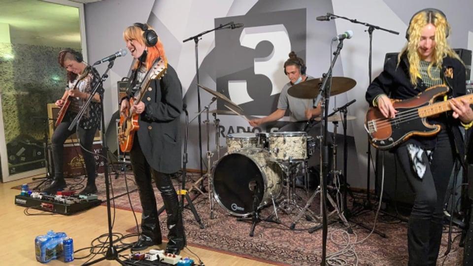 Laut und live in der SRF 3 Lounge: Velvet Two Stripes