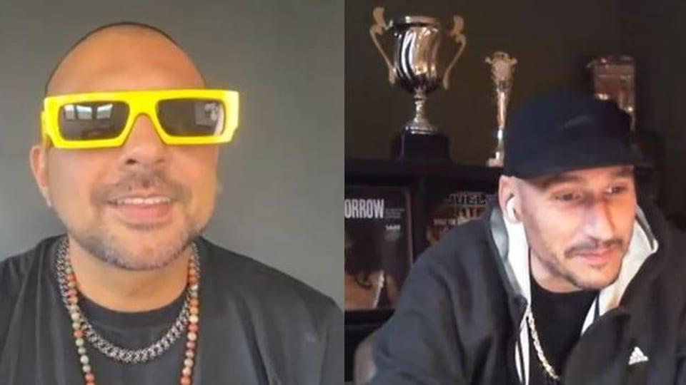 Sean Paul (links) im Interview mit Reggae Special-Macher Lukie Wyniger