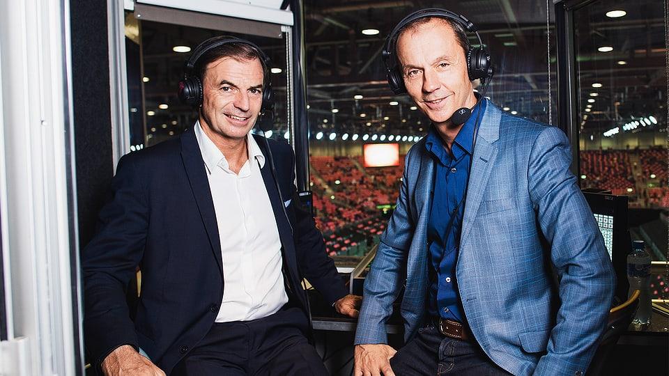 Heinz Günthardt (links) und Stefan Bürer.