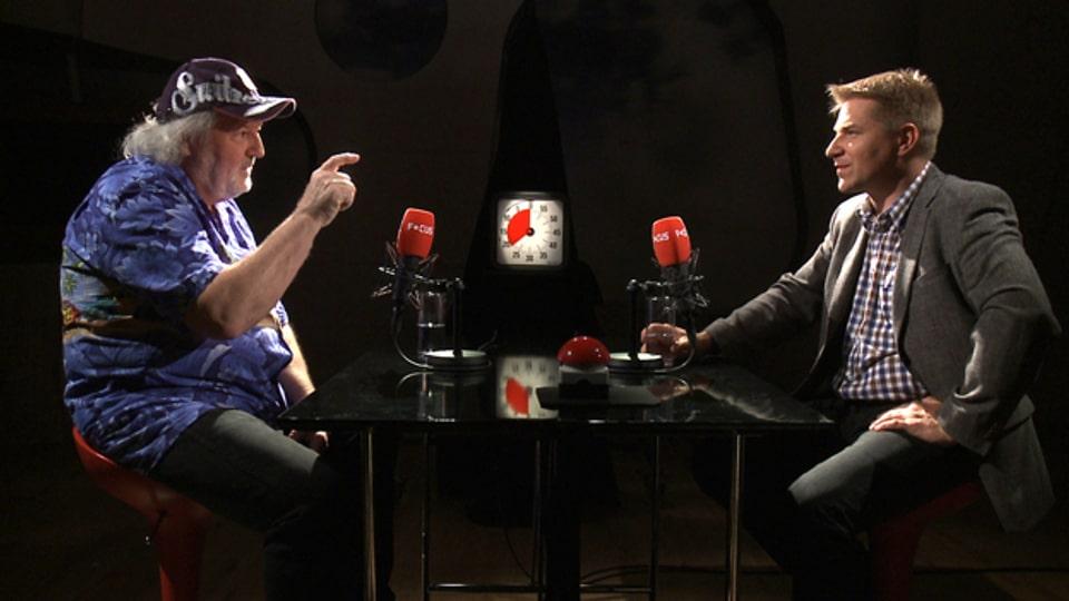 Komiker Peach Weber trifft auf SVP-Politiker Toni Brunner.