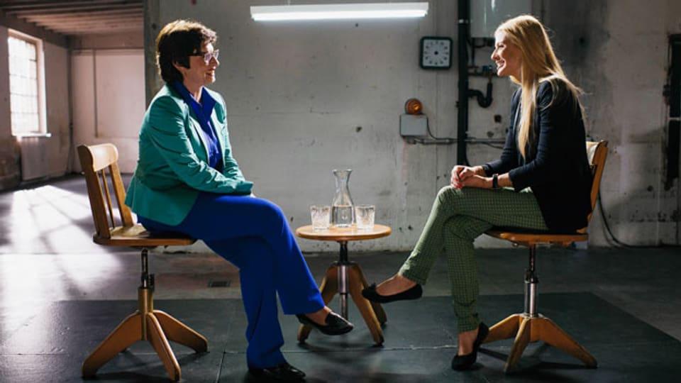 Ständerätin Anita Fetz trifft Ex-Miss Schweiz Christa Rigozzi