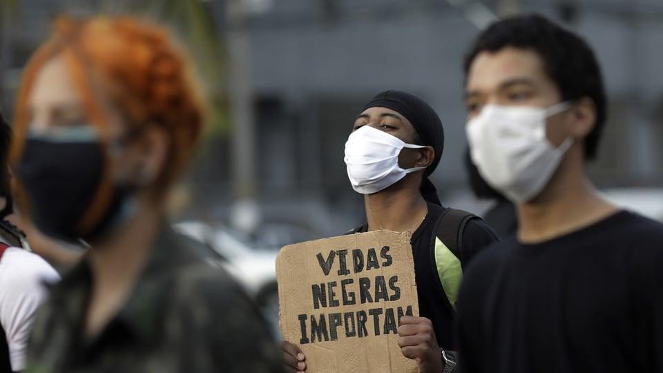 Black Lives Matter Protest in Brasilien