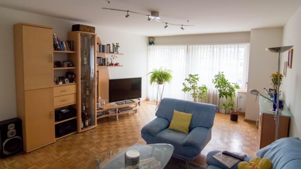 Das Schweizer Durchschnittswohnzimmer: Nachgebaut von einer Kommunikationsagentur.