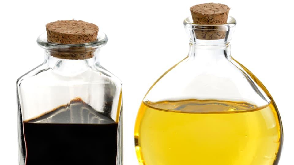 Öl und Essig brauchen für eine Beziehung Milch