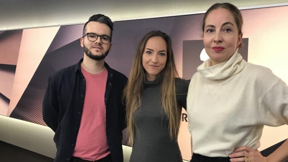 Sängerin Blanka Inauen und Keyboarder Alessandro Hug sind live bei Hana Gadze