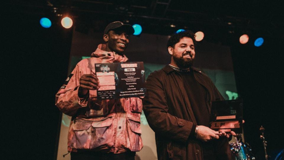 So sehen strahlende Gewinner aus: Rapture Boy (rechts) und DJ Caesar