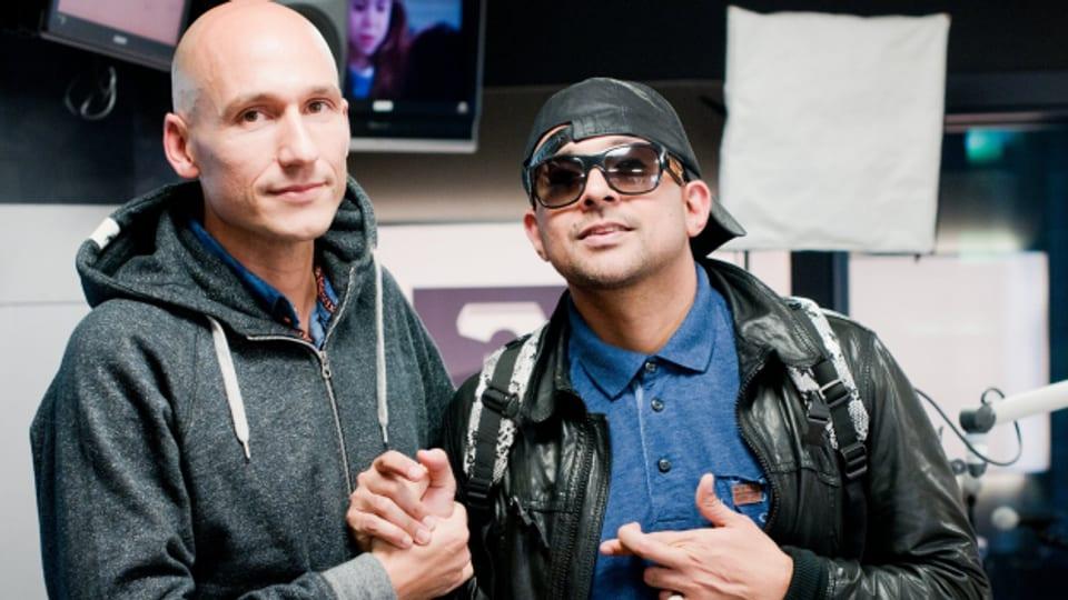 Sean Paul (rechts) war 2013 bei SRF 3 im Reggae Special zu Gast