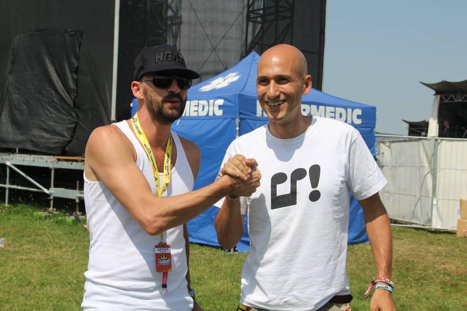 Reggae Special-Mann Lukie Wyniger mit Gentleman am Open Air Frauenfeld
