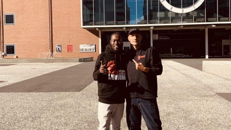 Randy Valentine (links) und Reggae Special-Macher Lukie Wyniger in Basel