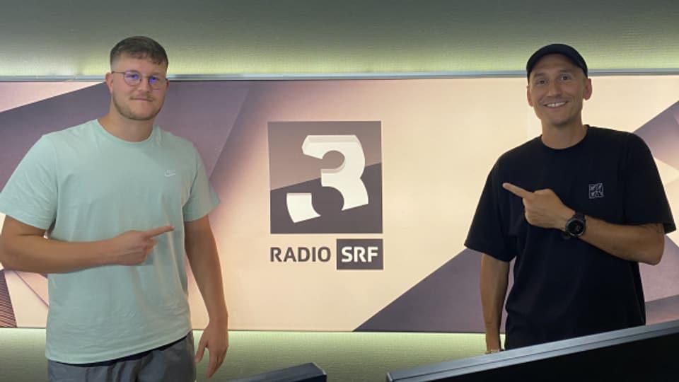Skip (links) mit Reggae Special-Macher Lukie Wyniger