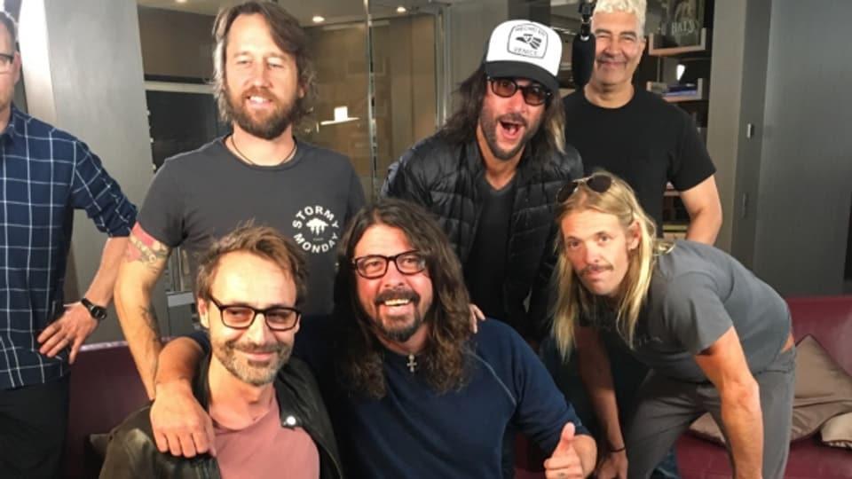 Rock Special-Mann Dominic Dillier mit den Foo Fighters