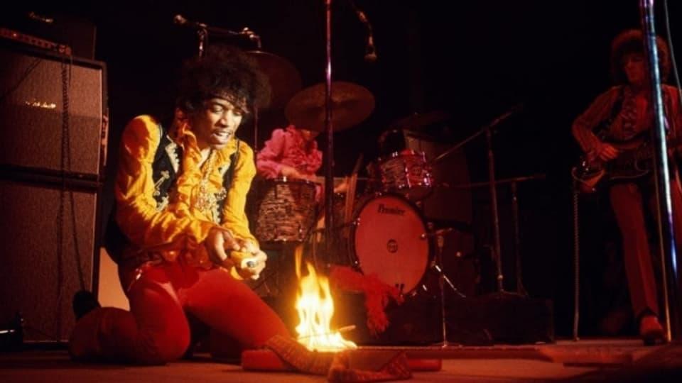 Arbeitsgerät abgefackelt: Gitarrengott Jimi Hendrix