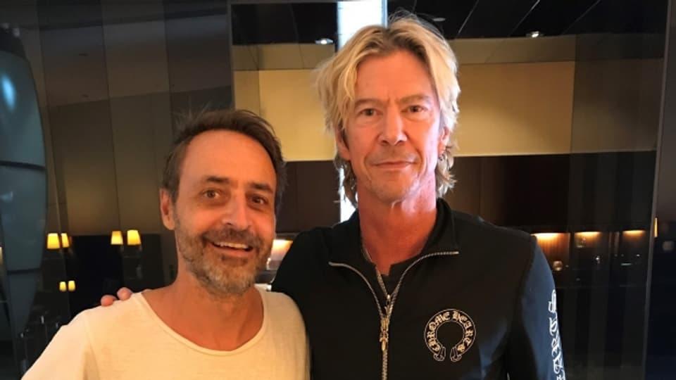 Duff McKagan mit Rock Special-Mann Dominic Dillier