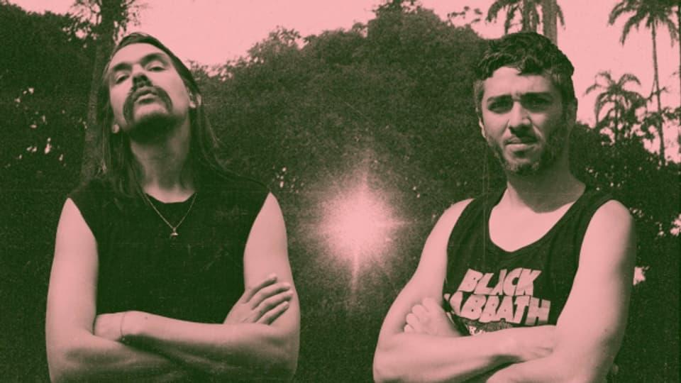 Punkten mit ihrem frischen Salsa-Punk in Yello-Manier: Das Duo Contento aus Medellin, Kolumbien.