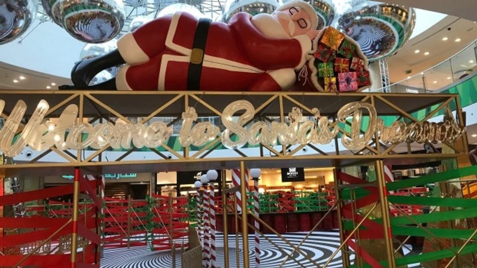 Weihnachtsmann in einer jordanischen Shopping Mall