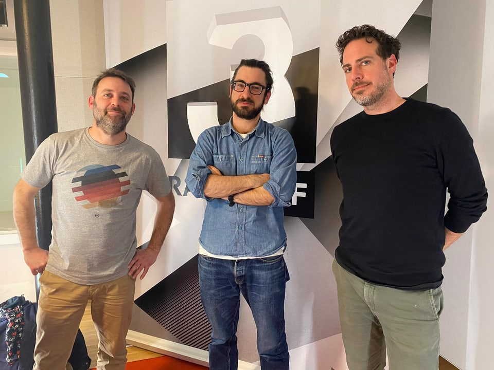 Mämä Sykora, Matthias Daum und Tom Gisler (v.l.).