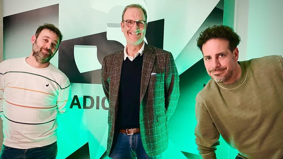 Mämä Sykora, Lutz Jäncke und Tom Gisler (v.l.).