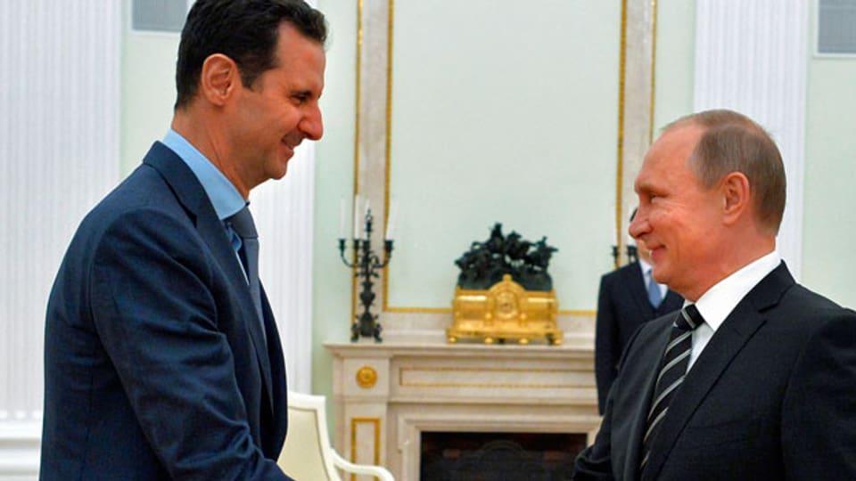 In Syrien begrüssen viele die Einsätze des russischen Militärs.