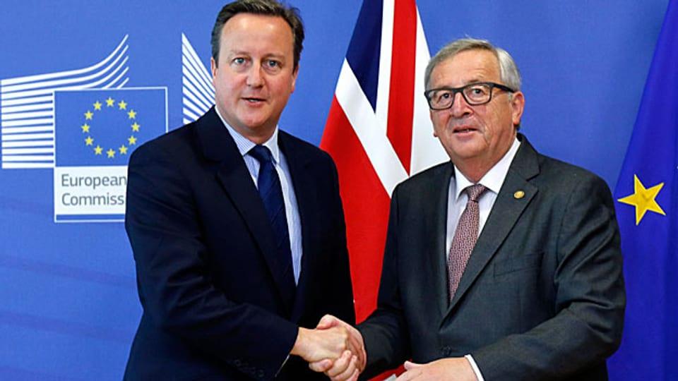 Was tut Grossbritannien nach dem «Brexit»-Votum? Die EU-Staatschefs und EU-Kommissionspräsident Jean-Claude Juncker verlangen Antworten vom britischen Premier David Cameron.
